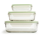 Kinetic Go Green GlassLock Food Storage - Set of 3, Rectangle