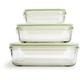 Kinetic Go Green GlassLock Food Storage - Set of 3, Rectangle