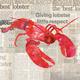 Lobster Shack Paper Cocktail Napkins
