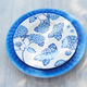 Light Blue Hydrangea Round Salad Plate