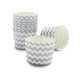 Paper Eskimo Silver and White Chevron Baking Cups, Set of 25