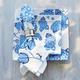 Light Blue Hydrangea Square Plate
