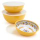 Floreale Serve Bowls with Lids, Set of 3