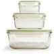 Kinetic Go Green GlassLock Food Storage - Set of 3, Square