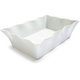 Blanc Wave-Edge Porcelain Baker