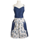 Blue Eiffel Tower Vintage-Inspired Apron, Large