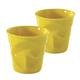 Revol Cappuccino Crinkle Cups, Set of 2