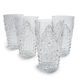Clear Ruby Highball Glasses, Set of 4
