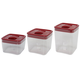 Click Clack Red Space Cubes, Set of 3