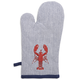 Lobster Striped Oven Mitt