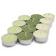 Assorted Green Tealights, Set of 24