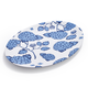 Light Blue Hydrangea Oval Platter