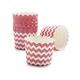 Paper Eskimo Red and White Chevron Baking Cups, Set of 25