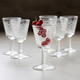 Vintage Silk-Screen Cordial Glasses, Set of 6
