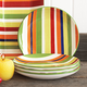 Striped Salad Plate, 8