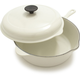 Le Creuset® White Deep Covered Sauté Pan, 3¾ qt.
