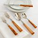 Dubost Olive Wood Flatware, 5-Piece Set