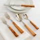Dubost Olive Wood Flatware, 5-Piece Set