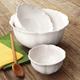 Antique White Romantic Bowls, Set of 3