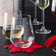 Stemless Wine Glasses, Set of 6