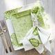 Green Hydrangea Square Salad Plate