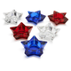 Glass Star Candleholders, Set of 6