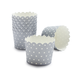 Paper Eskimo Silver with White Dot Baking Cups, Set of 25