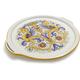 Deruta-Style Round Serving Platter with Handles