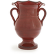 Red Italian Scalloped-Edge Vase