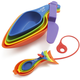 Kuhn Rikon Rainbow Measuring Cup and Spoon Set