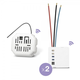 Edisio Pack Start On-Off Wireless Microswitch + Wireless Receiver 2 Loads