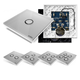 Edisio Transmitter Switch Base + Diamond Grey Cover Plate Kit