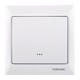 Z-Wave TKB Single Paddle Wall Switch - White