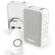 Honeywell Series 3 DC313NHGBS Wireless Portable and Plug-in Doorbell - White