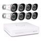 Foscam 720P NVR Kit Security System  8 xPoE Bullet Cameras