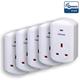 Z-Wave TKB TZ69E Wall Plug Switch/Meter - GEN5 - UK - 5 Pack