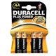Duracell Plus Power 4 Batteries - AA