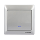 Z-Wave TKB Single Paddle Wall Switch - Silver