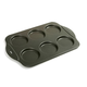 6-Hole Puffy Muffin Crown Pan