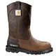 11-Inch Brown Unlined Steel Toe Wellington