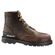 6-Inch Dark Brown Unlined Safety Toe Work Boot
