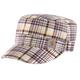 Plaid Military Cap