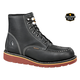Men's 6 Inch Black Wedge Boot