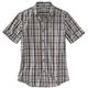 Essential Plaid Open Collar Short Sleeve Shirt