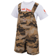 Infant/Toddler Tan Camo Shortall Set