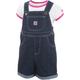 Infant/Toddler Printed Denim Shortall Set