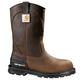 11-Inch Brown Unlined Steel Toe Wellington