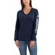 Wellton Graphic Sleeve LogoLong-sleeve V-neck T-Shirt
