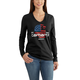 Lubbock Graphic Filled FlagLong-sleeve V-neck T-Shirt