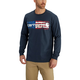 Lubbock Graphic Distressed Flag Long Sleeve T-Shirt